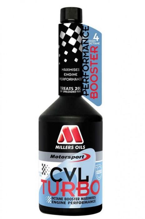 Millers Oils Motorsport CVL Turbo Octanbooster Benzinzusatz Ventilschmiermittel Oktan 500ml  (EUR 39,98 / 1 L)