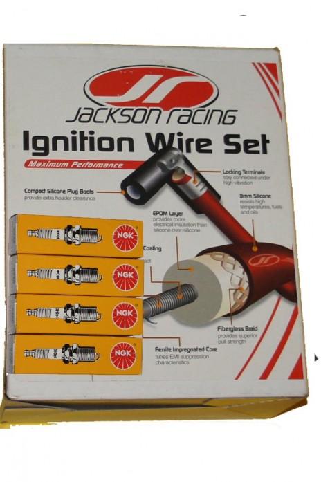 Zündkabel Silikon- Zündkabelsatz JR Jackson Racing 8mm  inkl. Zündkerzen NGK BKR6E-11  NA NB   Bj. 89-05