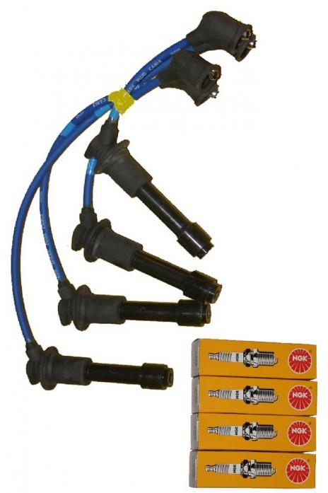 Zündkabel Silikon- Zündkabelsatz ORIGINAL NGK  8mm inkl. Zündkerzen BKR6E-11   NA NB  Bj. 89-05