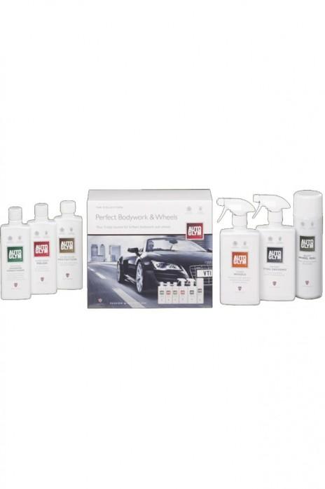 NA NB AutoGlym Perfect Bodywork & Wheels Politur Felgenreiniger Shampoo Lackversiegelung Reifenglanz Felgenschutz  2x 500ml 3x 325ml 1x 450ml