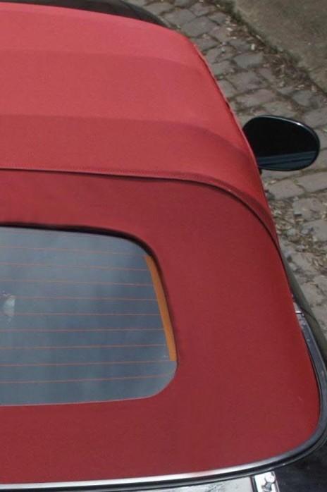 MAZDA MX-5 NA NB Stoffverdeck rot weinrot NC Style (Luxus-Version) NEU stayfast inkl. beheizbarer Heckscheibe