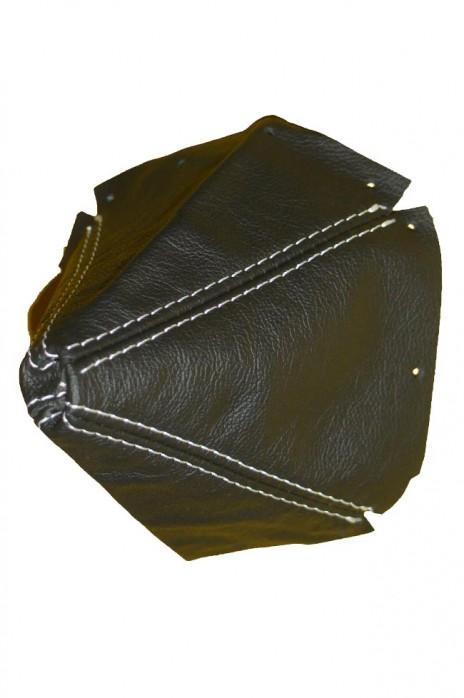 NA  Lederschaltsack Schaltsack Schaltmanschette Leder schwarz (weiße Naht)