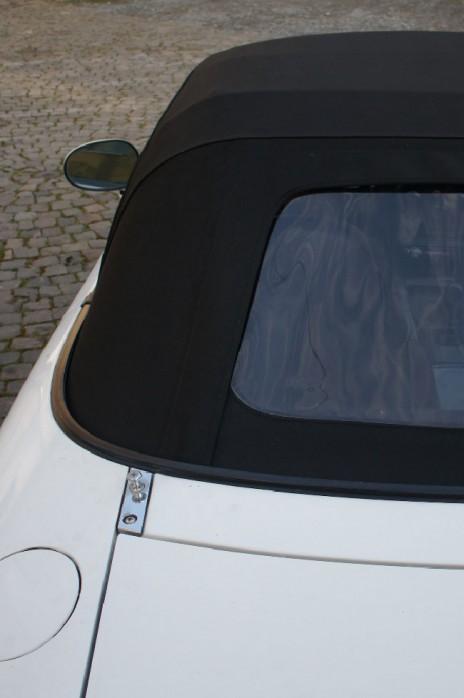 NA NB Stoffverdeck Stoff Verdeck Faltdach NEU schwarz zweiteilig Plastikscheibe PVC