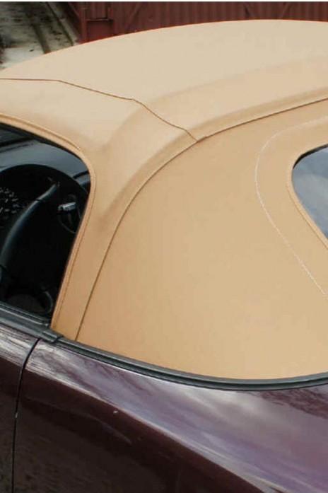 NA Vinyl- Verdeck Faltdach beige zweiteilig inkl. Reißverschluß & Plastikscheibe PVC