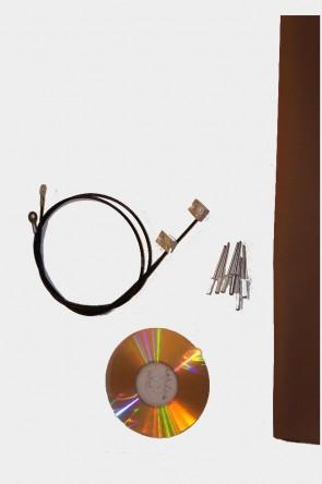 MAZDA MX-5 NB Verdeck Einbauanleitung & Verdeckspannseile Spannseile Vinyl Reparaturflicken beige 1 Satz