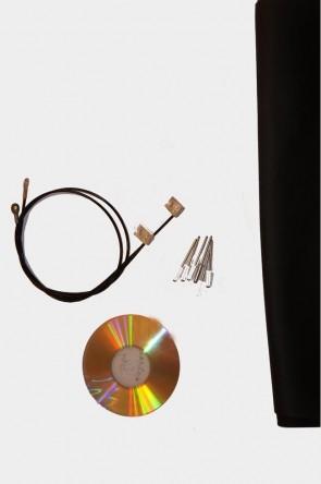 MAZDA MX-5 NB Verdeck Einbauanleitung & Verdeckspannseile Spannseile Vinyl Reparaturflicken schwarz 1 Satz