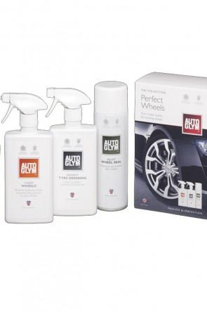 AutoGlym Perfect Wheels Pflege & Schutz rund ums Rad  2x 500ml 1x 450ml