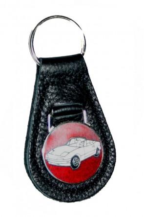 MAZDA MX-5 Schlüßelanhänger Anhänger Schlüsselring Ring Email Logo Leder