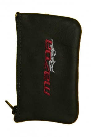 MAZDA MX-5 NA NB Schlüssel-Etui Täschchen Mäppchen Schlüsseletui Leder schwarz Mazda Racing Logo