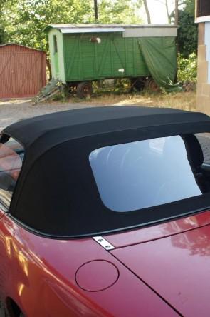 NA NB Stoffverdeck Stoff Verdeck Faltdach NEU schwarz einteilig Plastikscheibe PVC