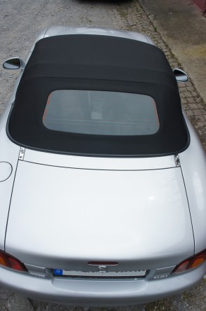 Verdeck Stoff Stoffverdeck schwarz inkl. beheizbarer Scheibe NC Style einfacher Schnitt