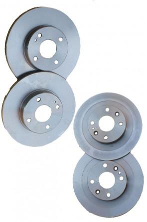 NA NB 4x Bremsscheiben Hinterachse + Vorderachse VA + HA 270mm & 276mm Ø  (2001-2005) Kompletter Satz Komplettsatz SPORTIVE