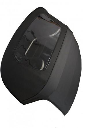 NA NB Vinyl-Verdeck Faltdach schwarz einteilig ohne Reißverschluß + Plastikscheibe PVC  SUPER LOW BUDGET